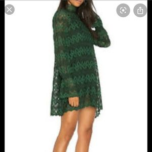 NEW NWT Free People Simone Dress Green